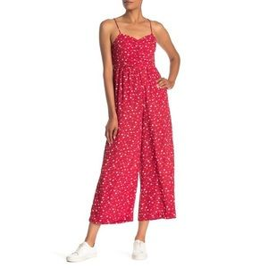 NWT MADEWELL Ruched Wide-Leg Jumpsuit